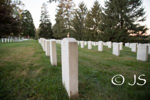 Headstones of the soldiers.