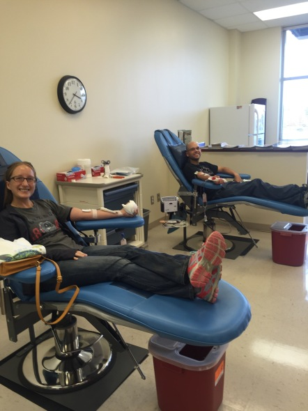 One of of many blood donations
